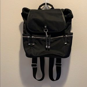 Calvin Klein Nylon with Black Leather Backpack